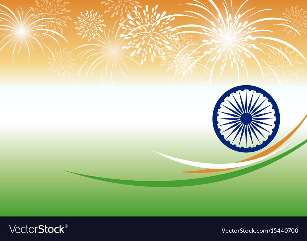 India independence day background design Vector Image 1000x786