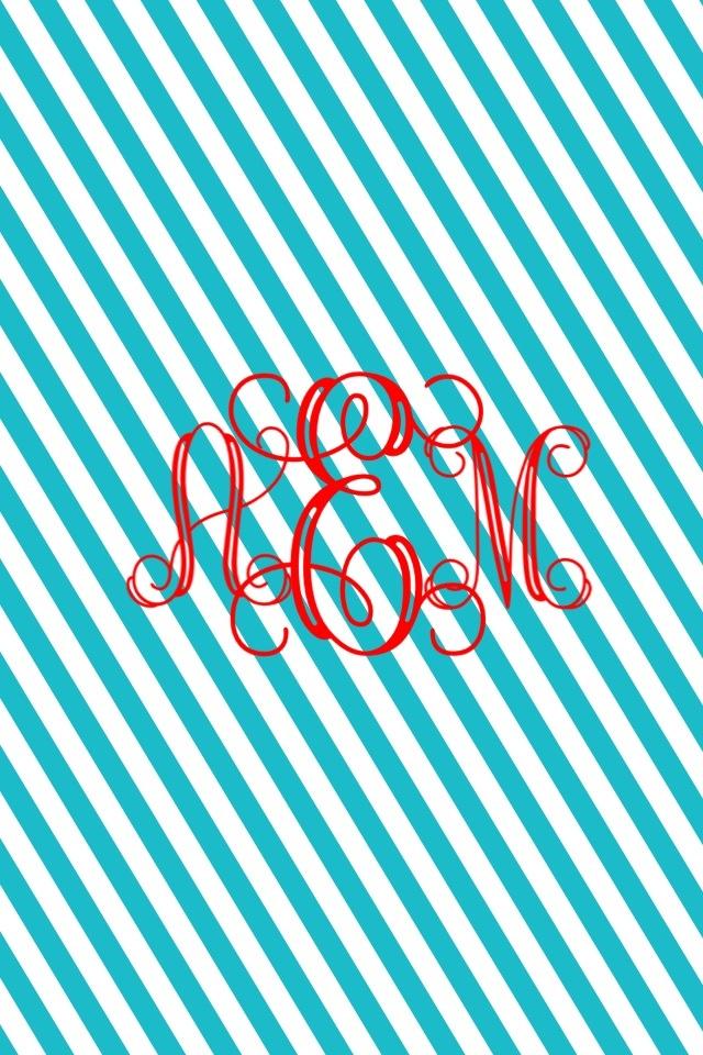 preppy monogram wallpaper
