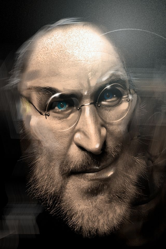 Steve Jobs beard iPhone wallpapers Background and Themes 640x960