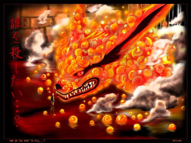 Kyuubi Nine Tailed Fox wallpaper 800x600