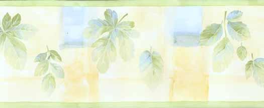 Leaf Color Block Wallpaper Border   Wallpaper Border Wallpaper inc 525x215