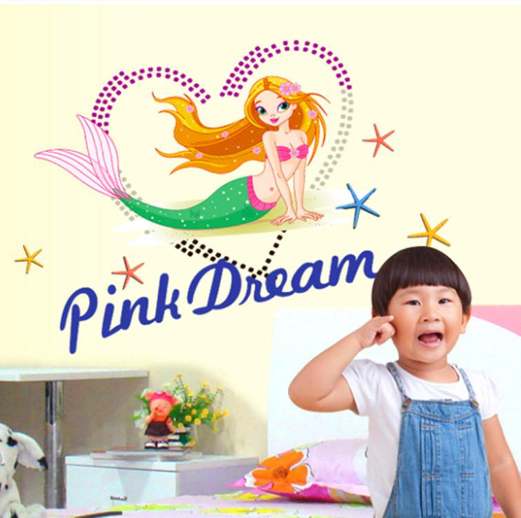 Wall stickers wall stickers wholesale manufacturers AY6011 mermaid 754x750