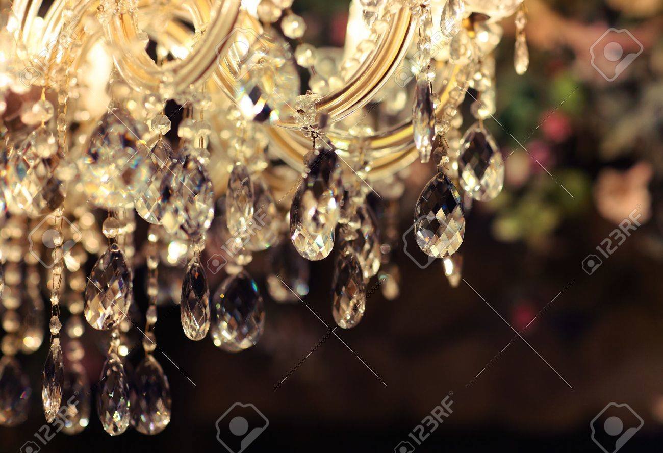 Chrystal Chandelier Close up Glamour Background With Copy Space 1300x888
