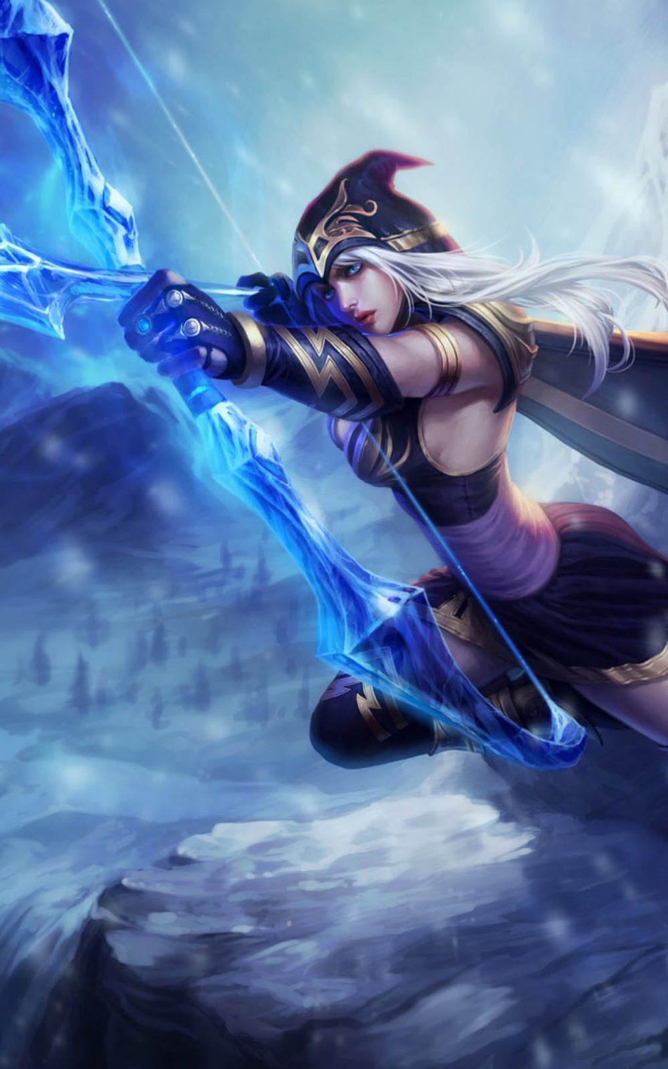 Free Download Ashe League Legends Hero Pure 4K