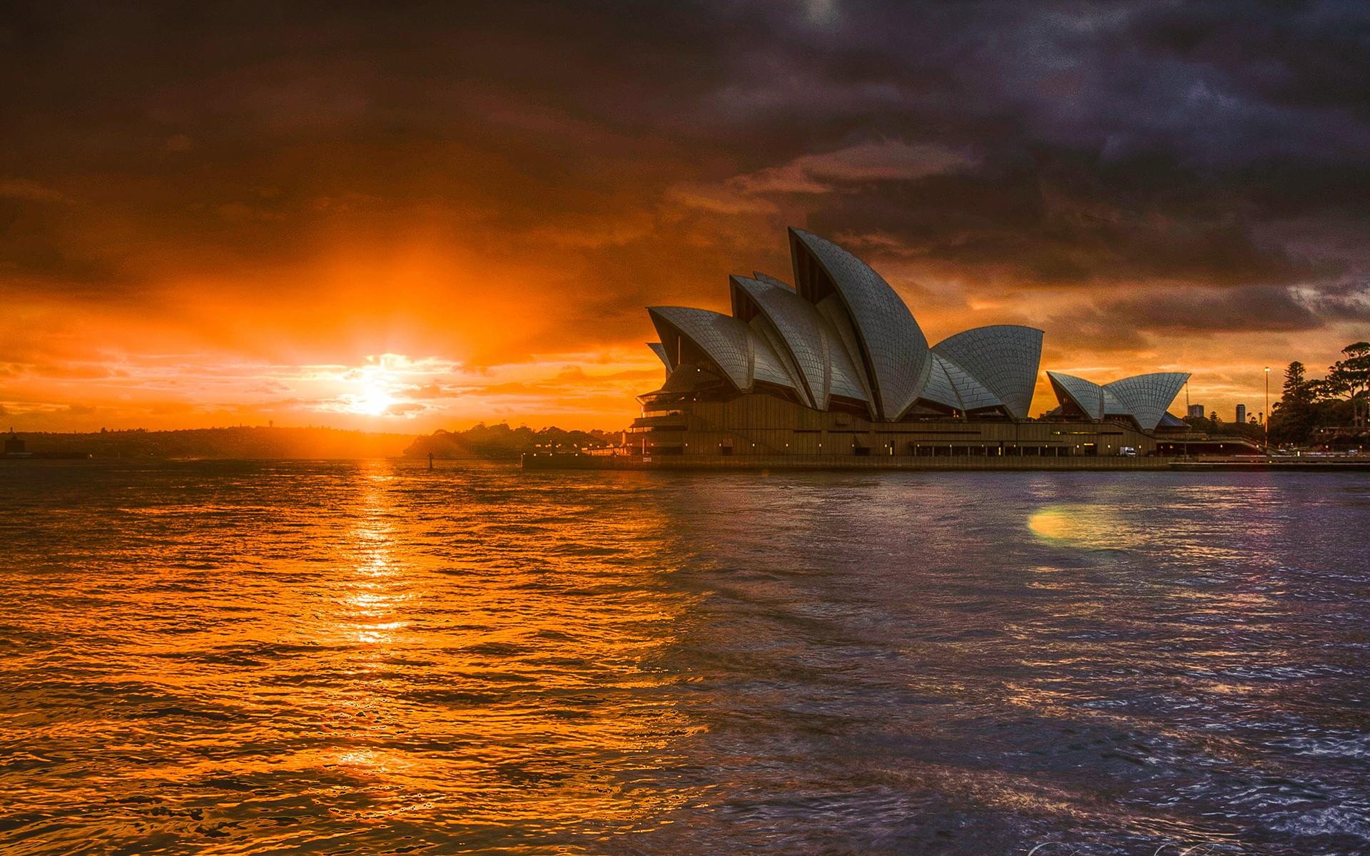 Sydney Opera House with Sunset   Nexus Wallpaper 1920x1200