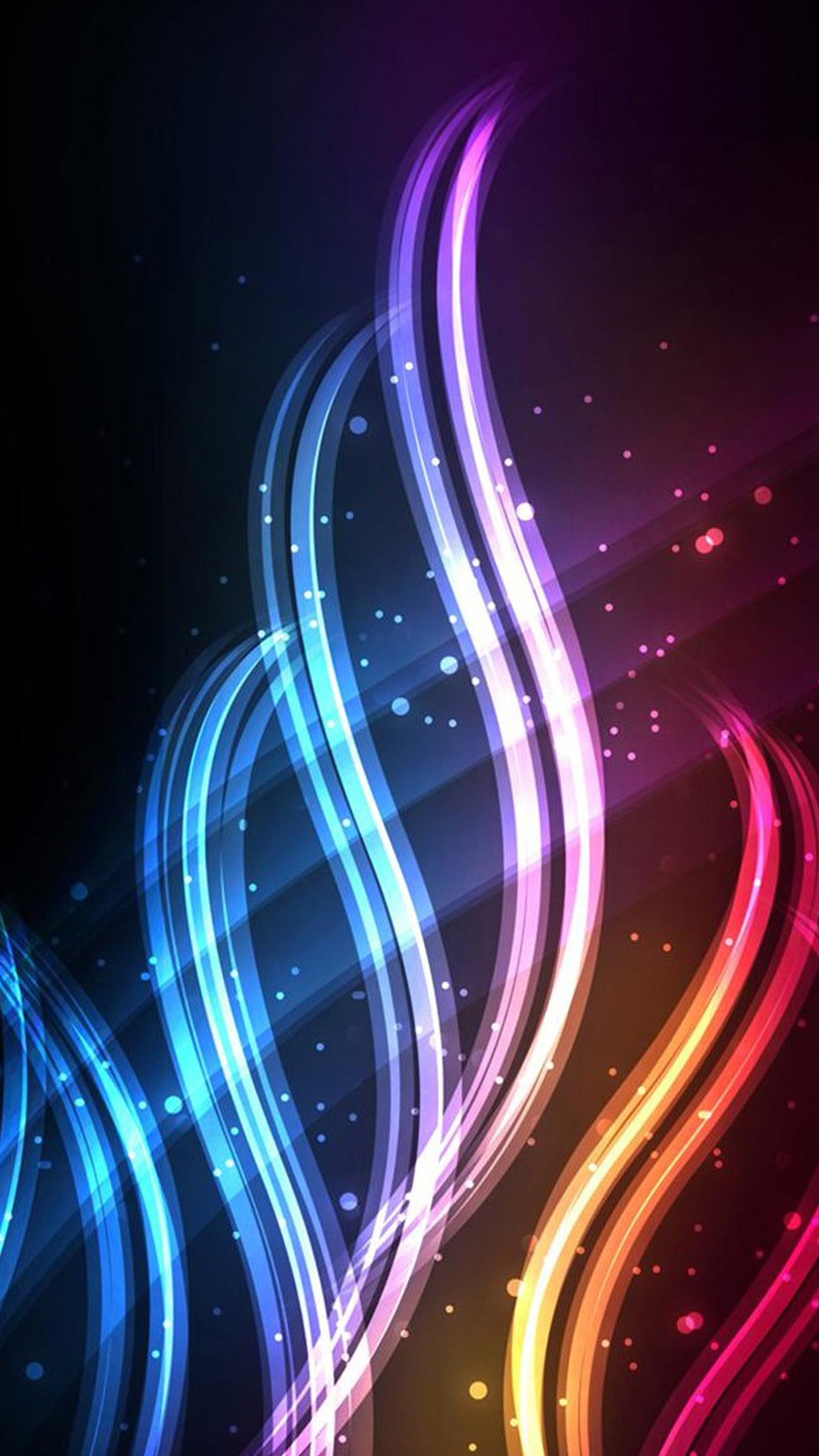 quad hd mobile phone wallpapers 1440x2560 neon swirls 1440x2560