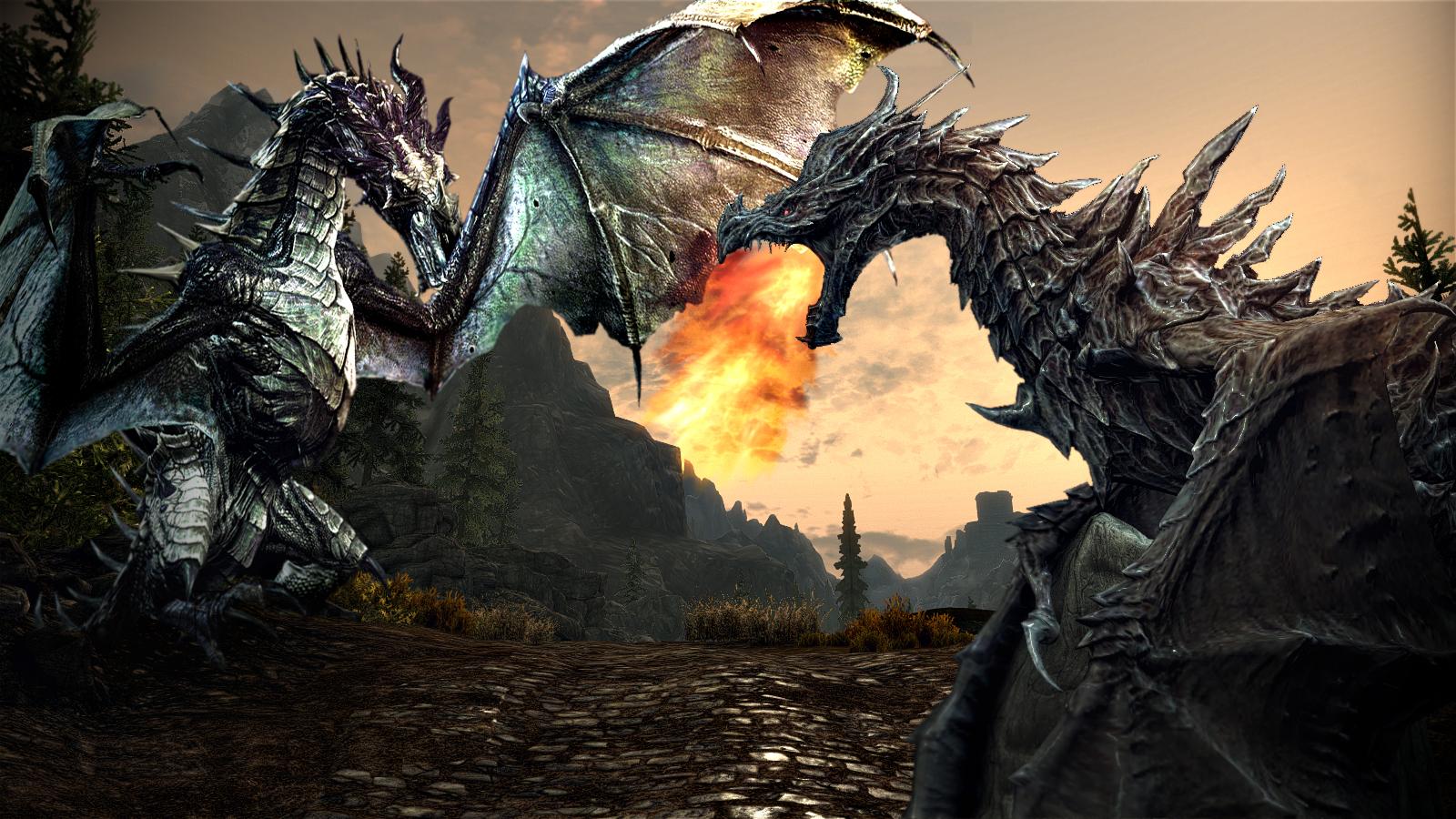 Download Dragoons Skyrim Wallpaper HD at Skyrim Nexus mods and