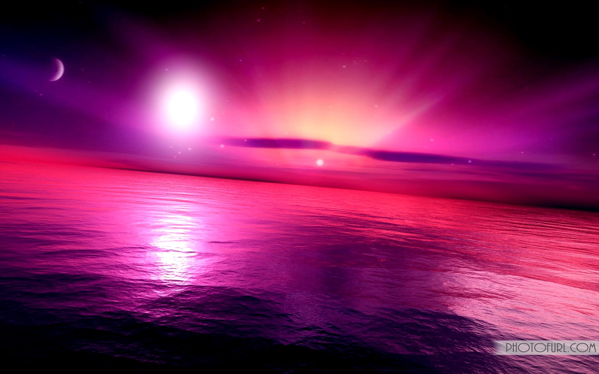 Pink Sunset Wallpaper Desktop