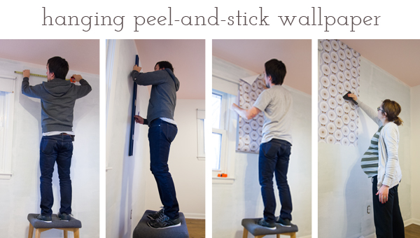 Hanging Peel and Stick Wallpaper in the Nursery Burritos and 600x340