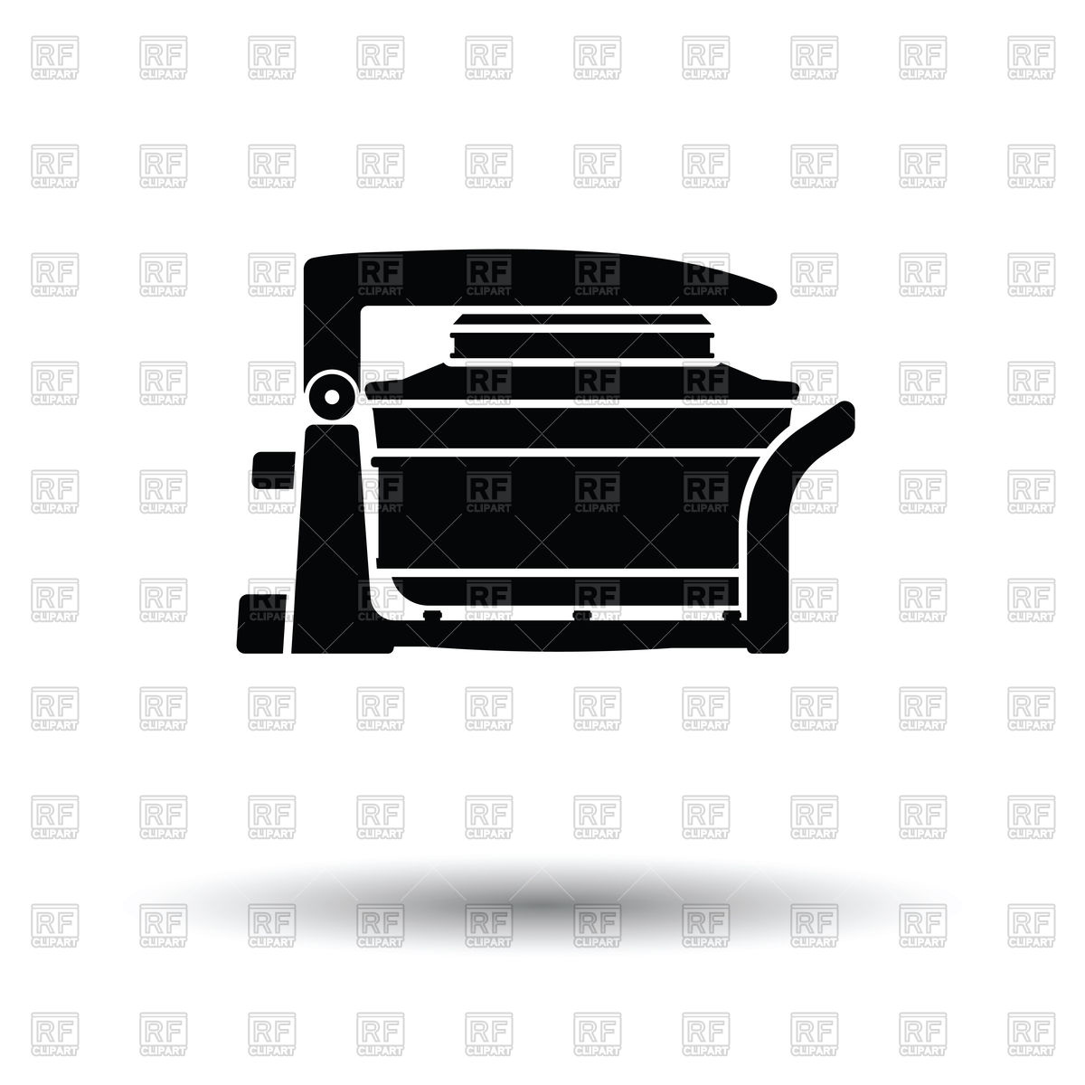 Electric convection oven icon White background with shadow design 1200x1200