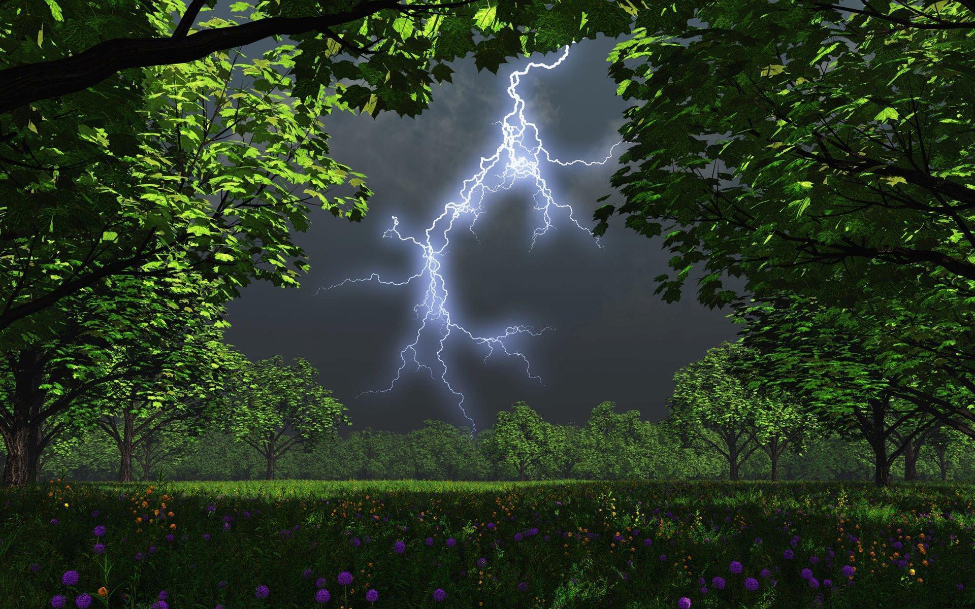 Thunderstorms And Lightning Wallpaper