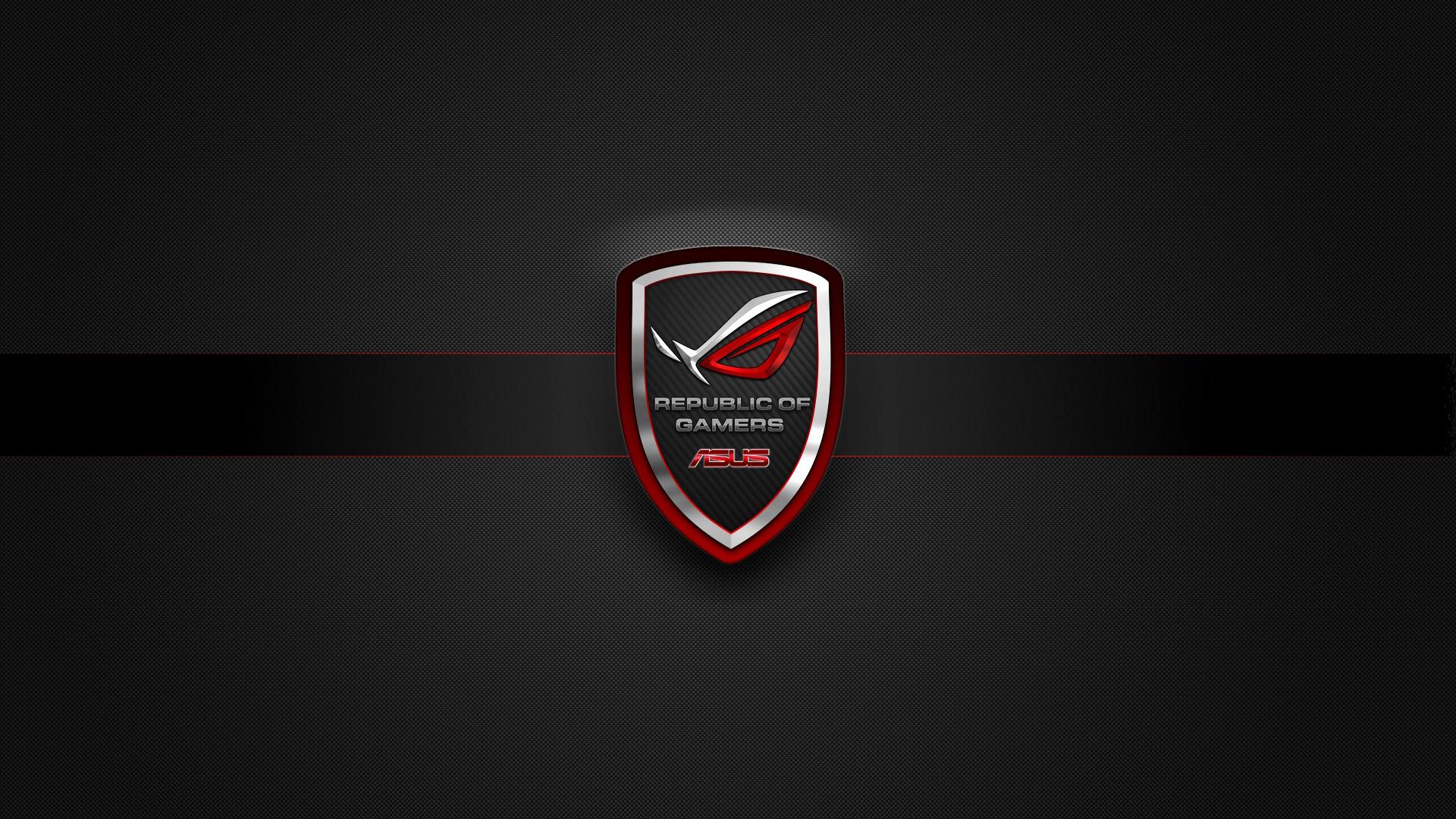 Asus Rog Republic Of Gamers Badge Logo Hd 1920x1080 1080p Wallpaper