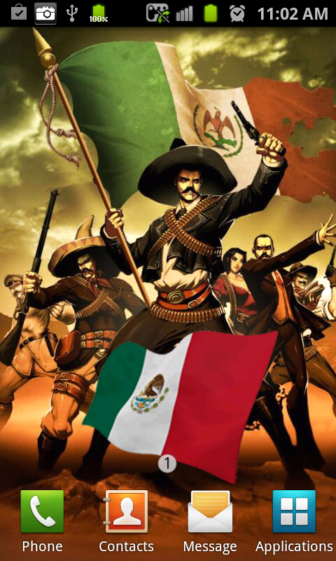 Download MEXICO Flag Live Wallpaper for android MEXICO Flag Live 480x800