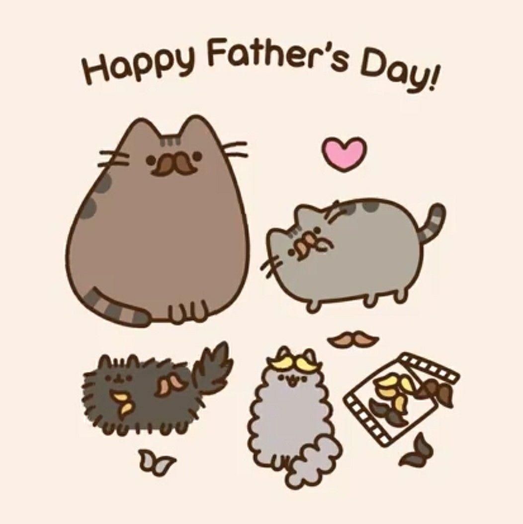 Pusheen Happy Fathers day Pusheen cat Pusheen cute Pusheen 1052x1053