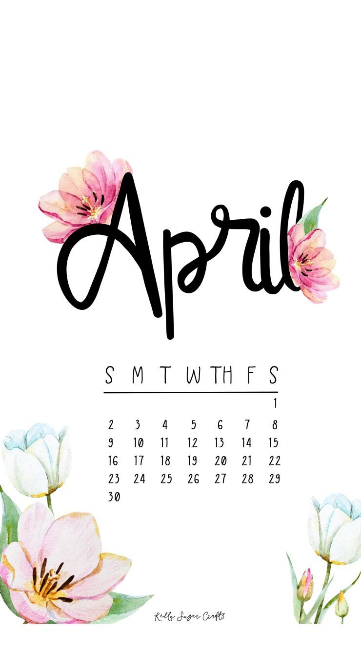 April 2017 Freebies Printable Calendar Wallpapers Kelly Sugar 740x1334