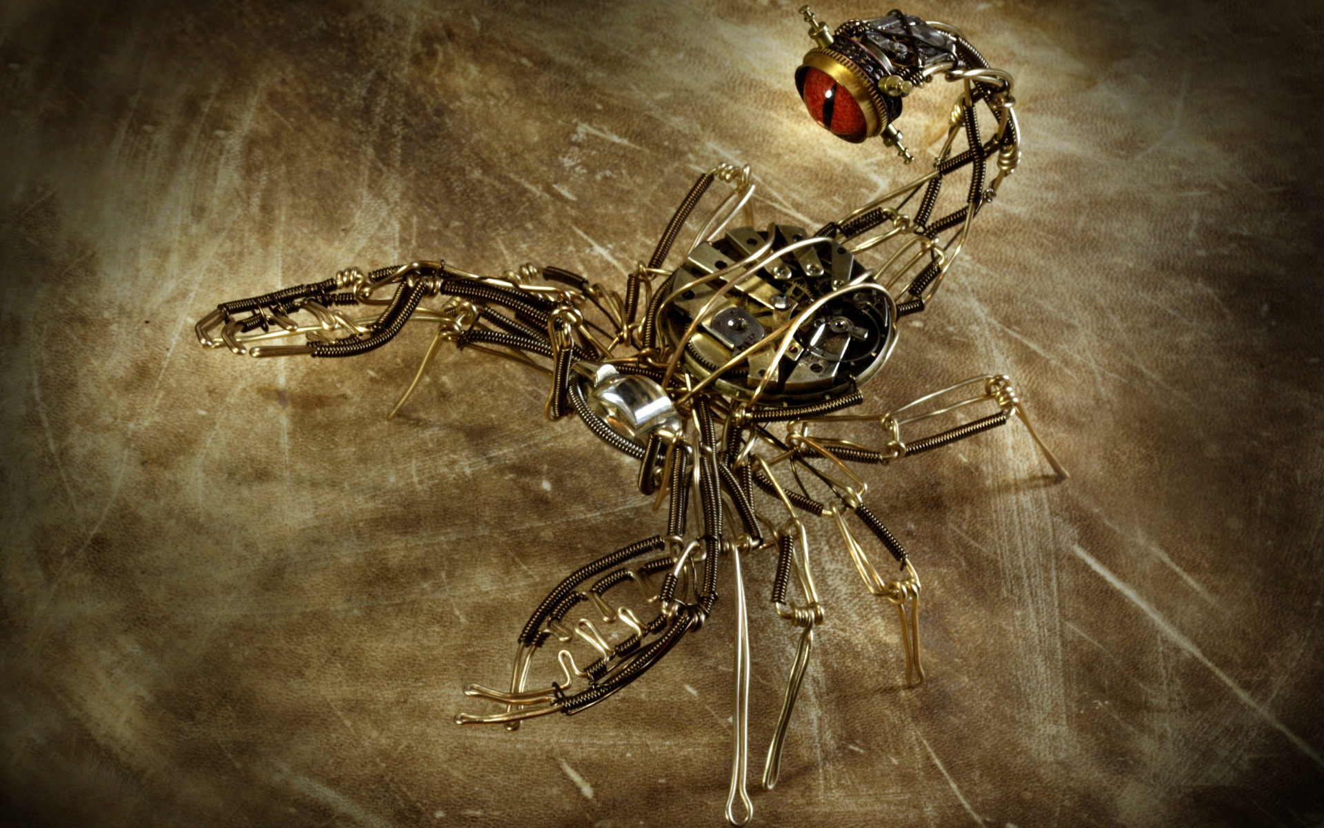 Steampunk Machine Scorpion mechanical wallpaper 1920x1200 62476 1920x1200