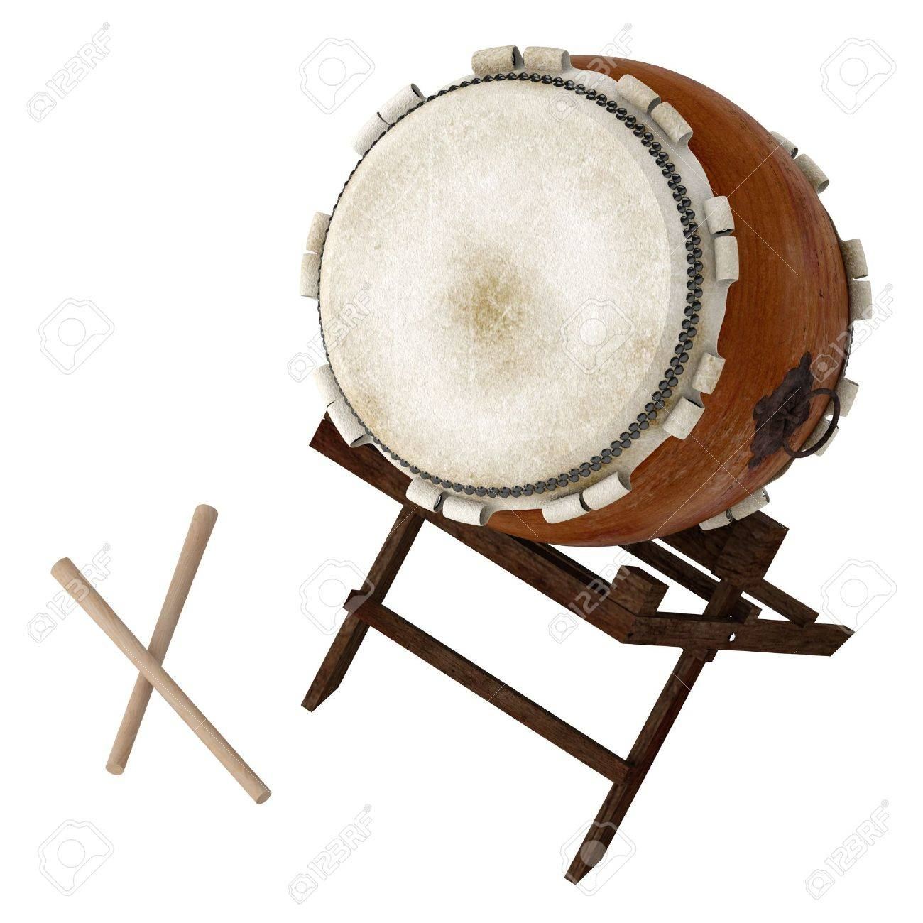 Taiko Isolated On White Background Stock Photo Picture And 1300x1300