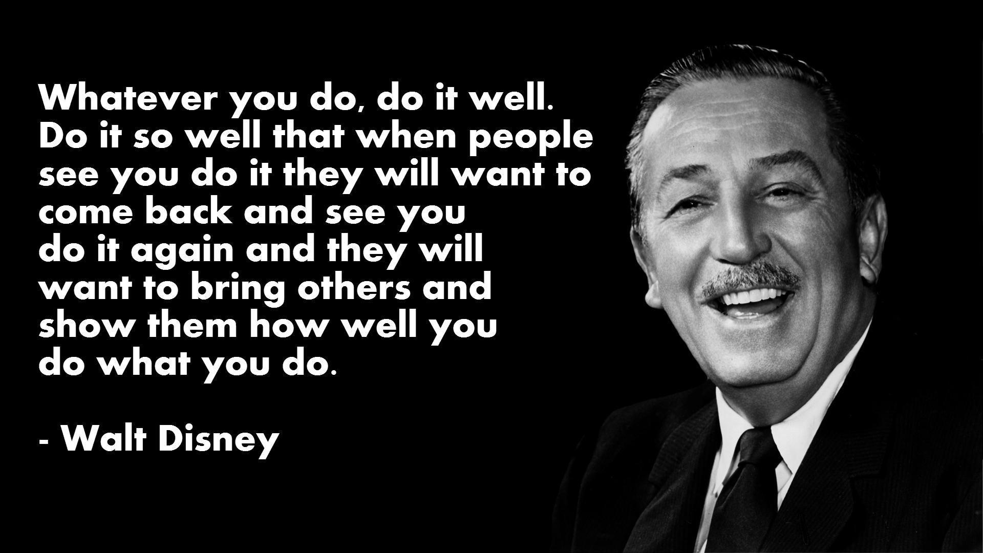 Walt Disney Quotes Wallpaper QuotesGram 1920x1080