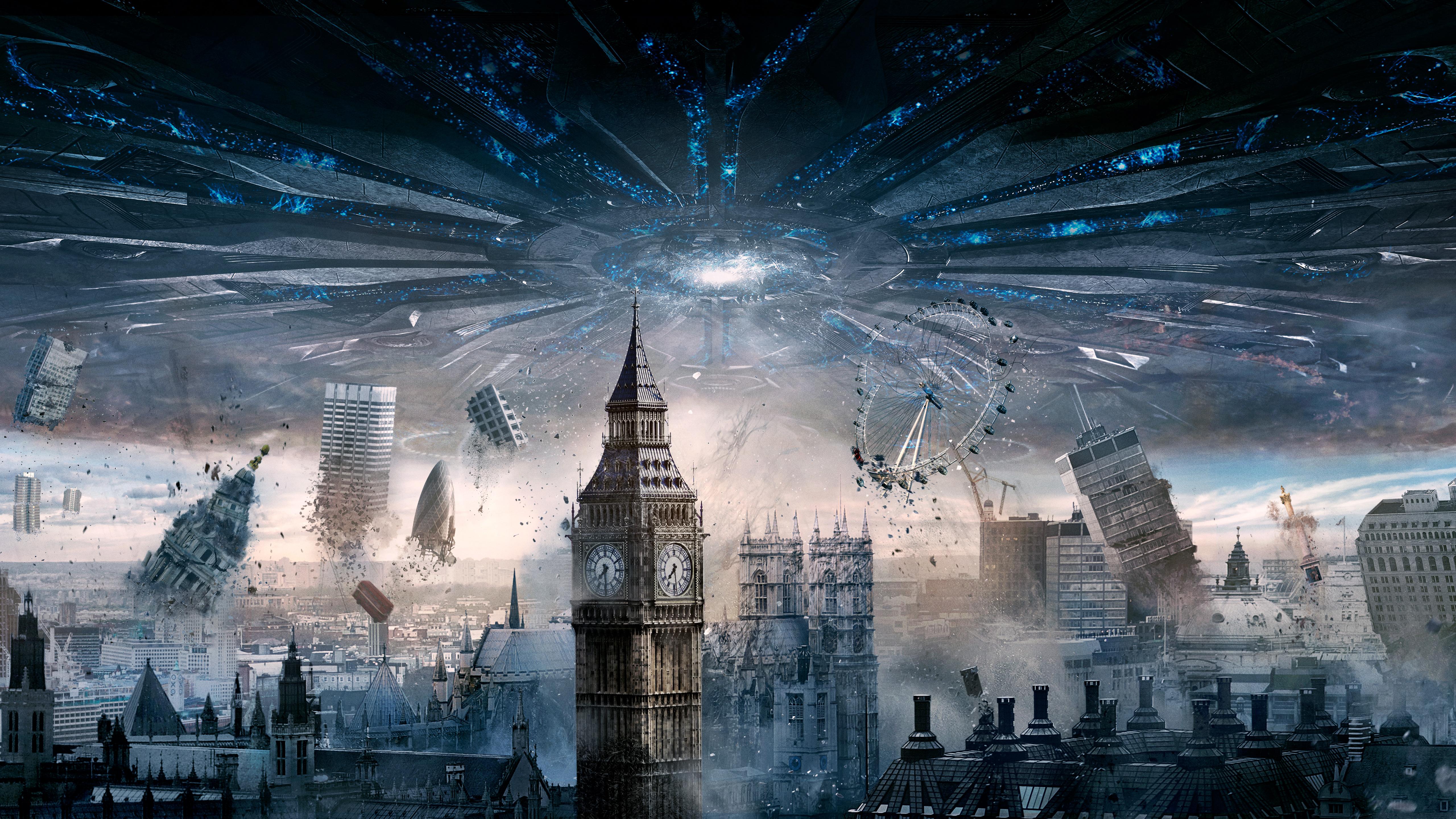 London Independence Day Resurgence 4K wallpaper 5120x2880