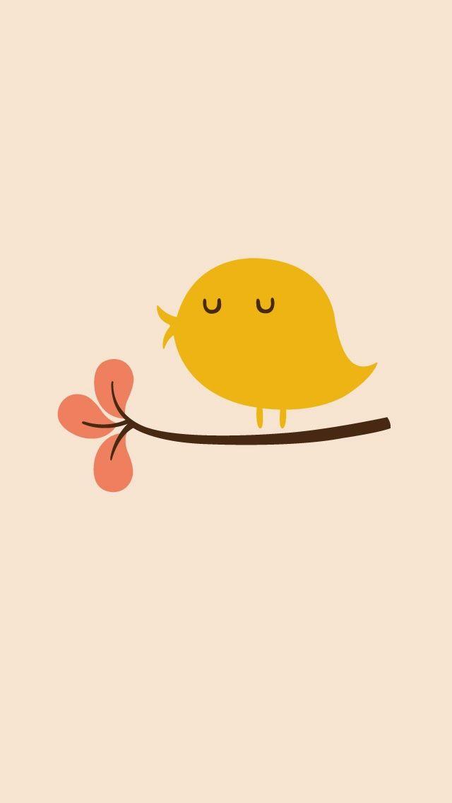 Cute Kawaii Bird Cute iphone 6 wallpaper Wallpaper iphone cute 640x1136