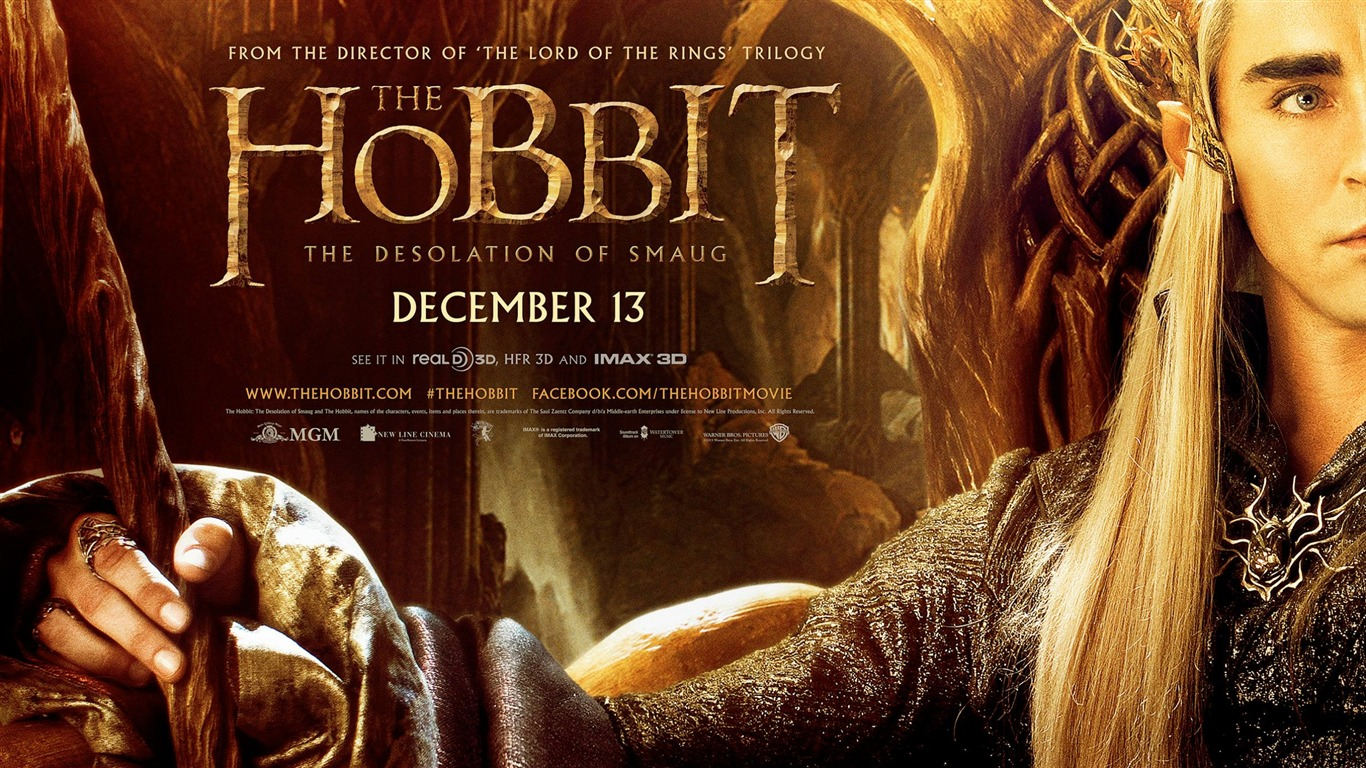 The Hobbit 2 The Desolation of Smaug Movie HD Wallpaper 01   1366x768 1366x768