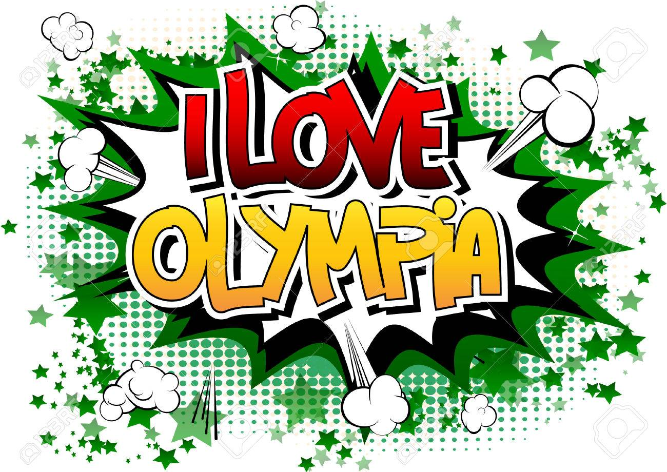 I Love Olympia   Comic Book Style Word On Comic Book Abstract 1300x920