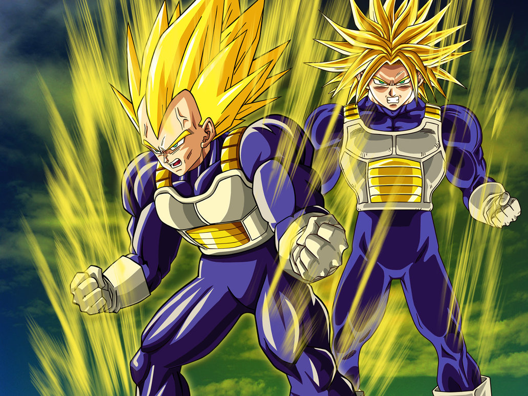 wallpaper vegeta and trunks by dony910 fan art wallpaper movies 1032x774