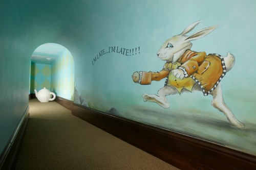 This tunnel leads to a secret Alice in Wonderland playroom complete 500x333