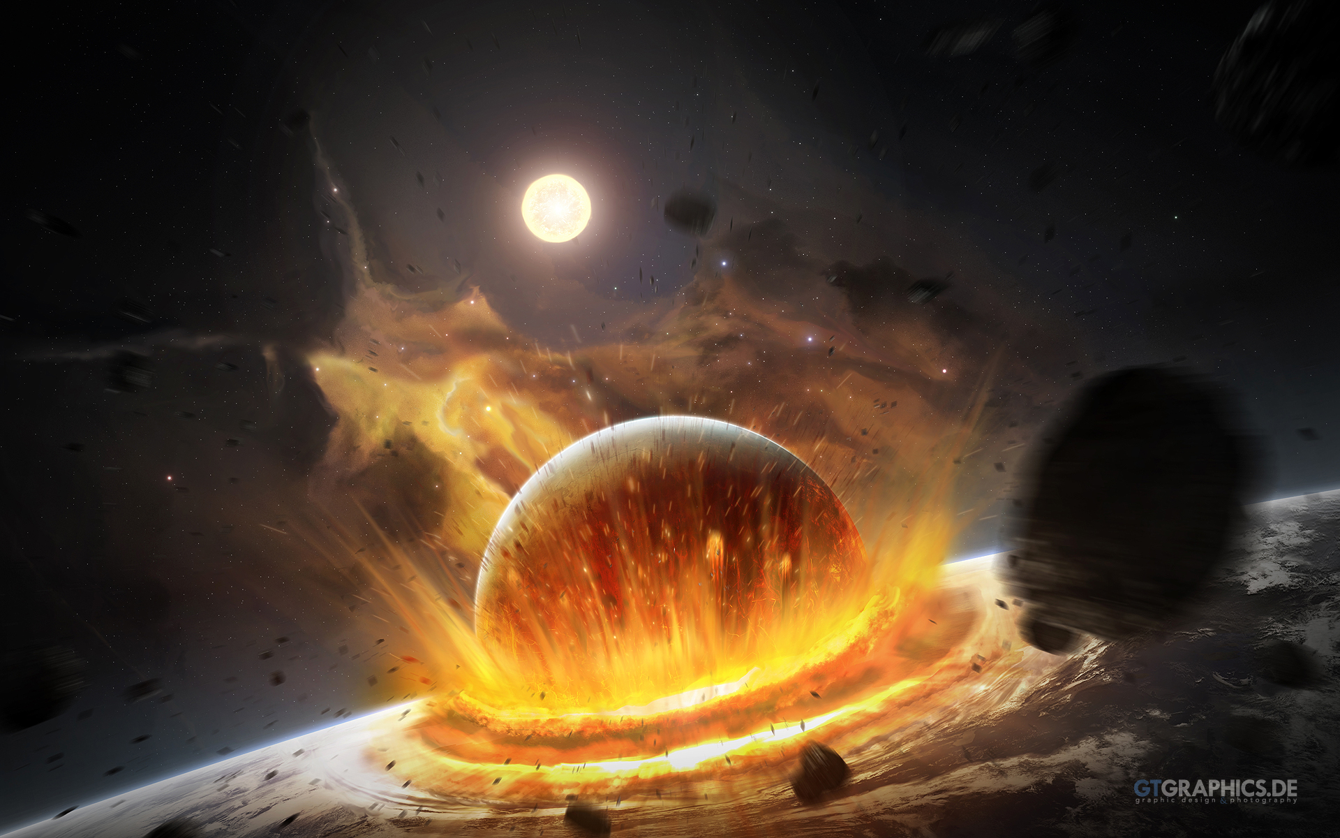 Planet Impact Wallpapers HD Wallpapers 1920x1200