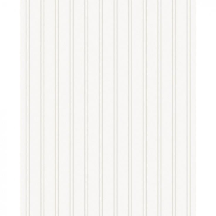 Paintable Prepasted Paintable Beadboard Wallpaper in White   15274 736x736