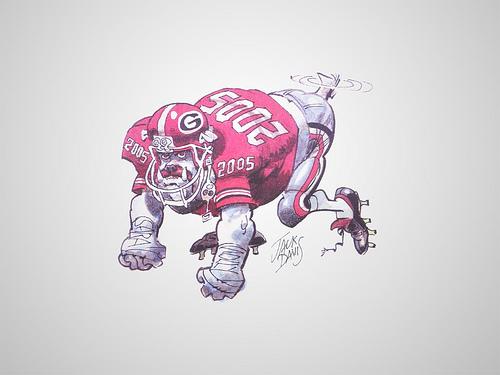 Georgia Bulldogs anime Wallpaper Flickr   Photo Sharing 500x375