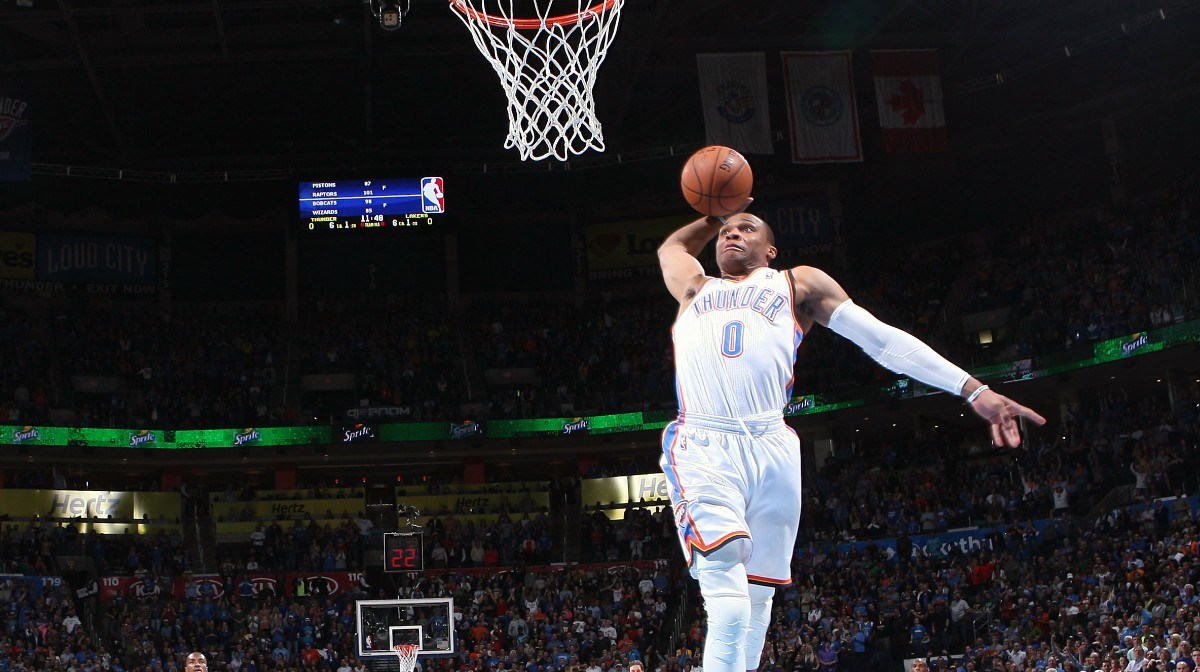 View Cool Dunking Russell Westbrook Wallpaper Gif