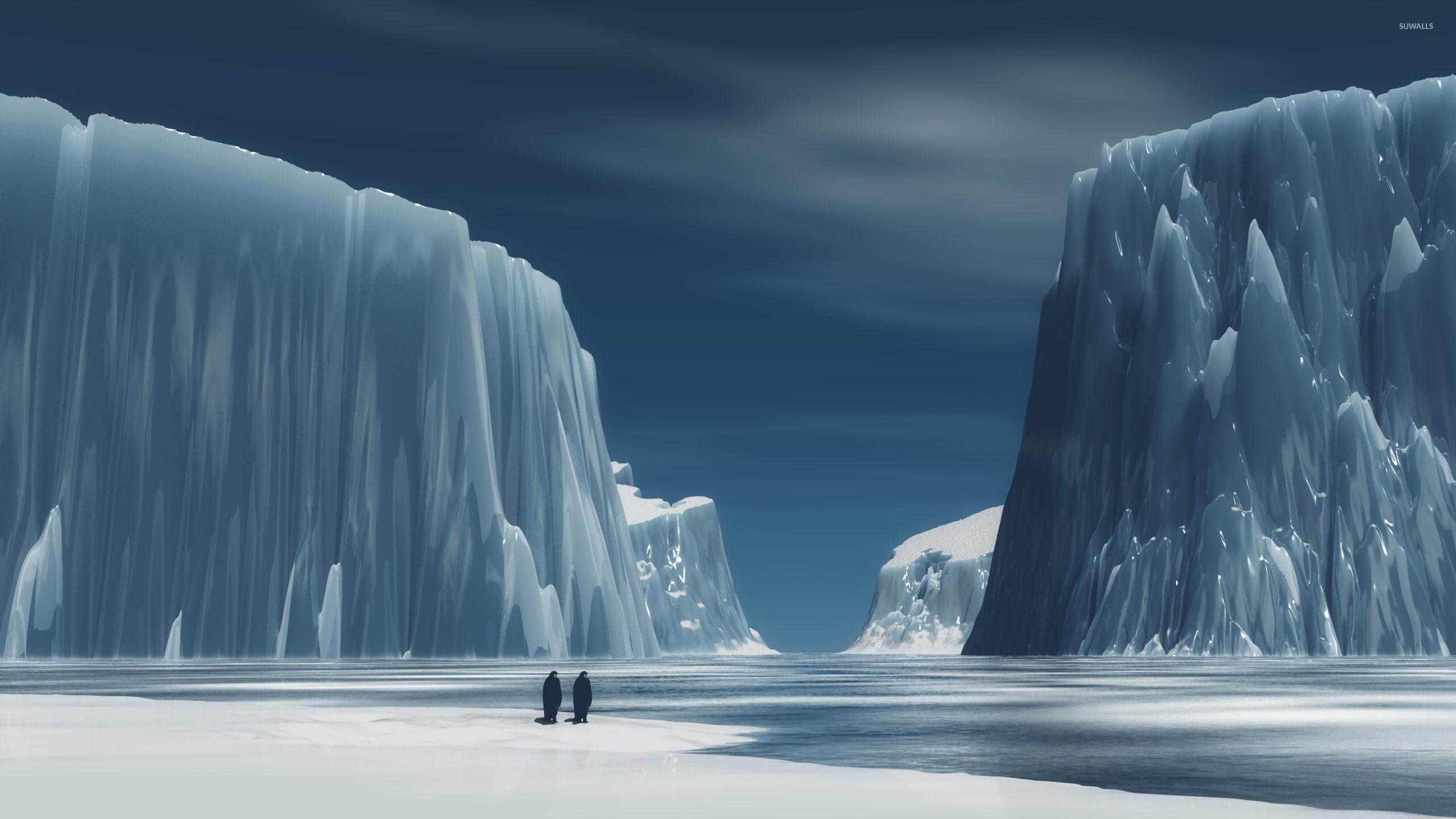 Penguins in Antarctica wallpaper   Digital Art wallpapers   19179 2560x1440