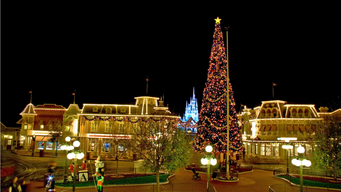 Christmas Disney World Background Desktop Sites Wallpapers For Desktop 1366x768
