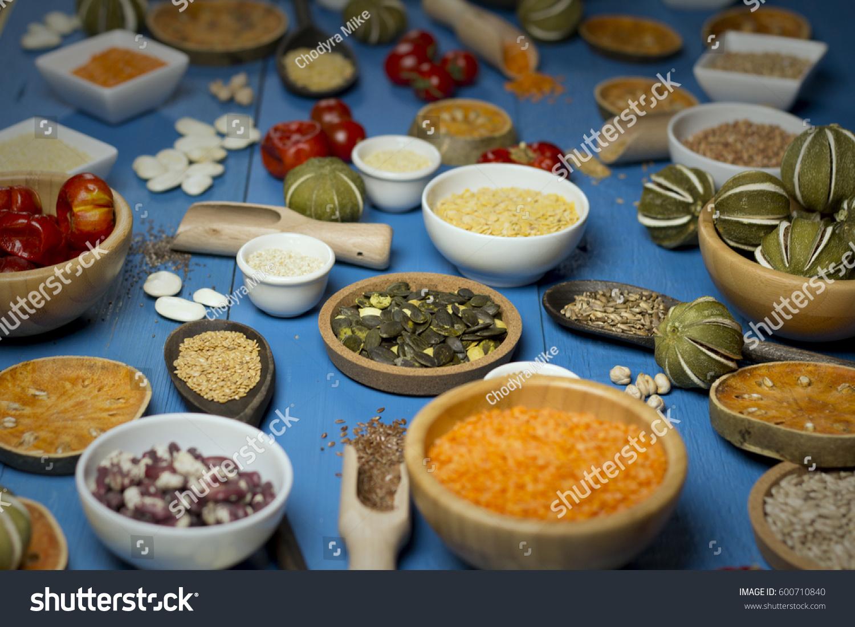 Sport Diet Various Dried Legumes Bowls Stock Photo Edit Now 1500x1101