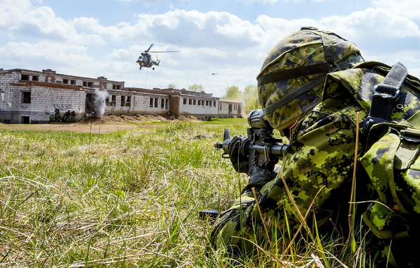 Wallpaper canadian army soldiers weapons wallpapers men   download 596x380