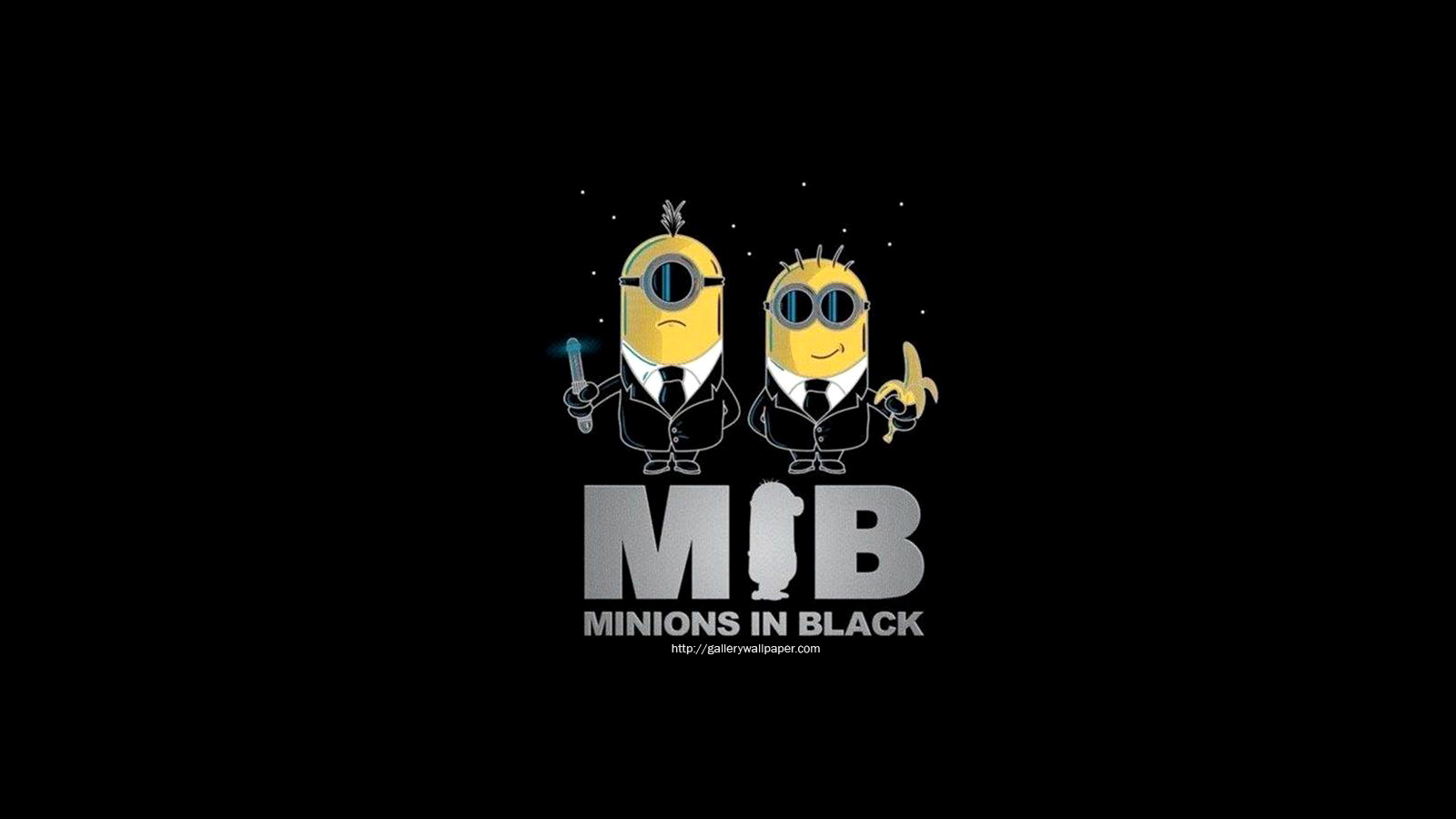 Minions In Black Funny Wallpaper HD Wallpaper with 1600x900 Resolution 1600x900