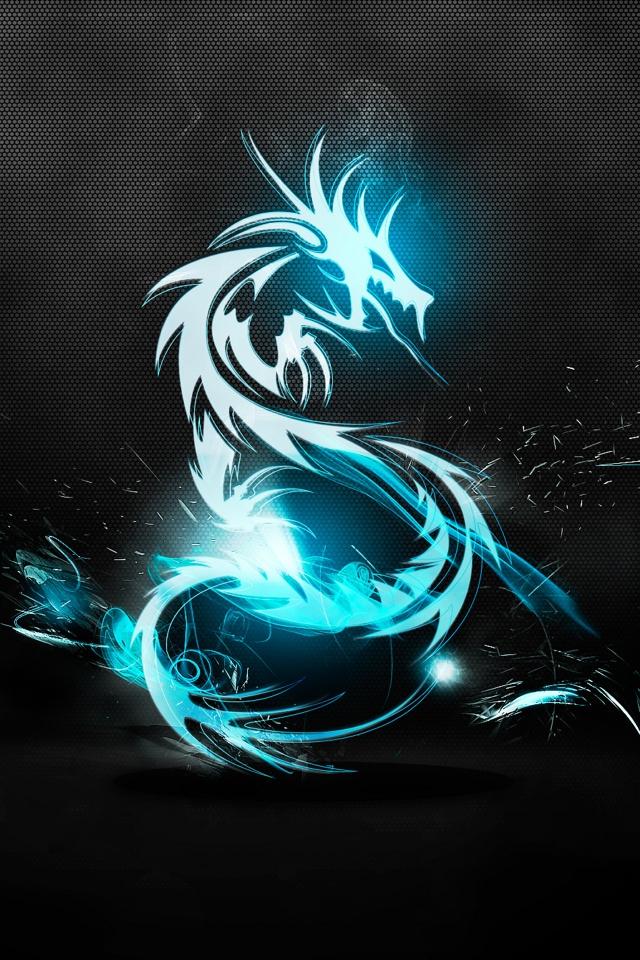 Dragon neon wallpaper iPhone4 640x960