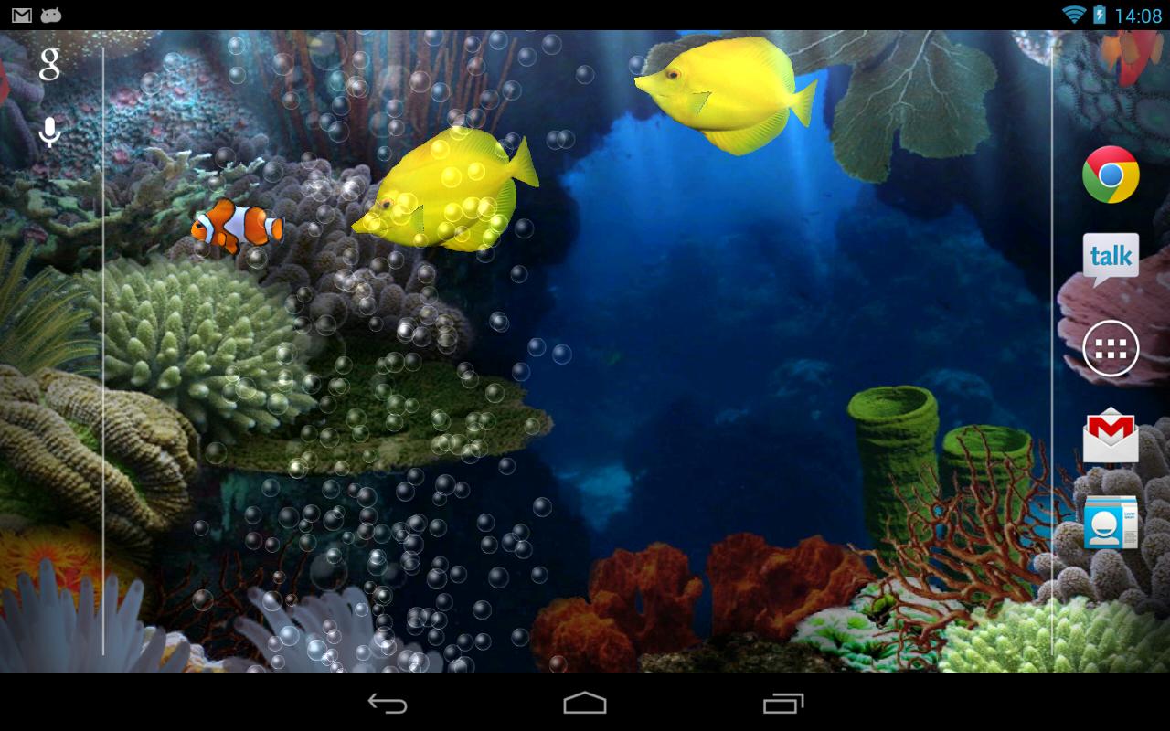 Kittehface Software: Aquarium Live Wallpaper v3.05