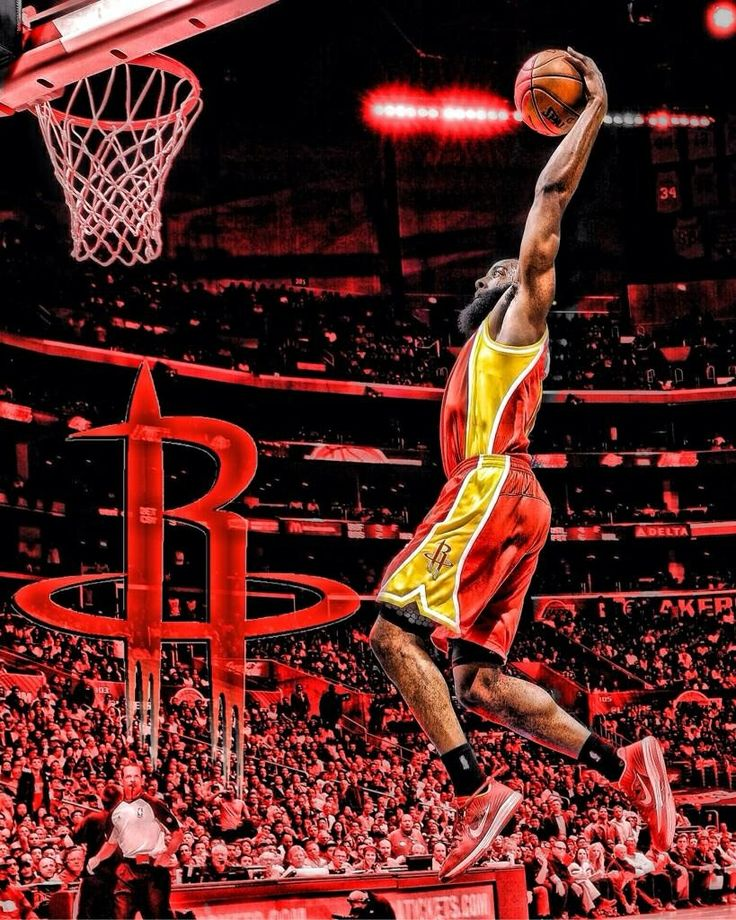 James Harden Rockets: James Harden Dunk Wallpaper