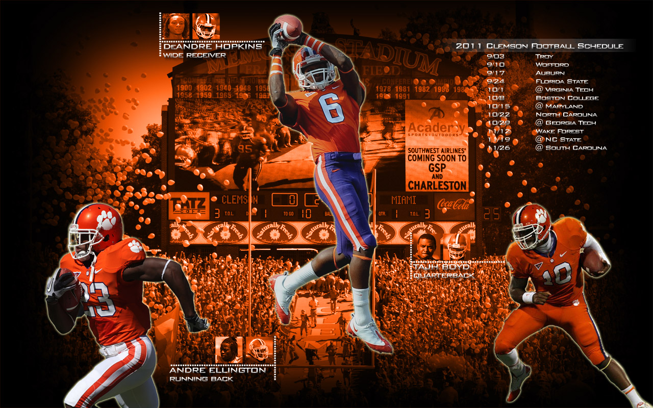Another new Schedule Desktop Background Pawsitively Clemson 1280x800