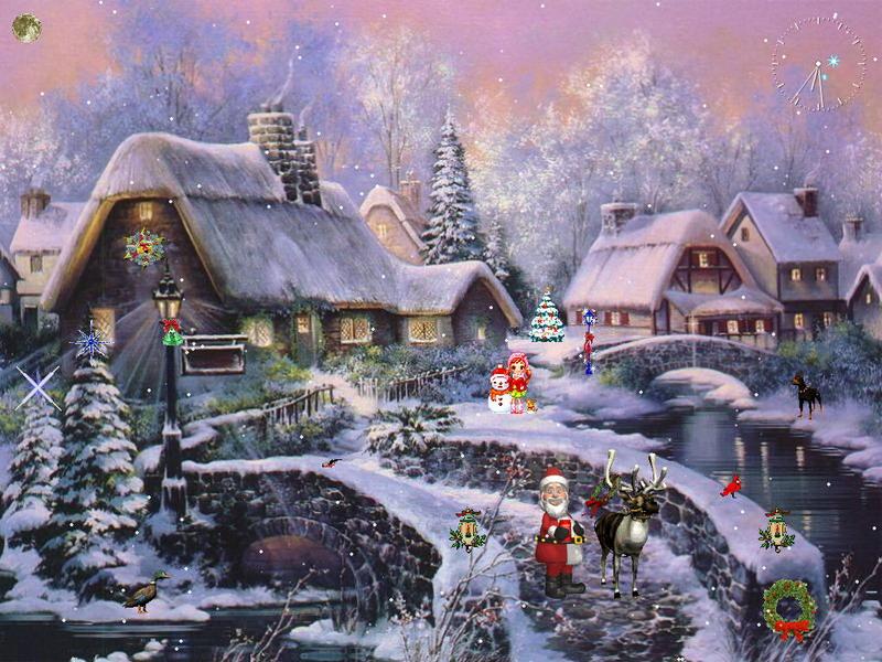 Christmas Scenery Desktop Wallpapers Xmas Scenic View 800x600