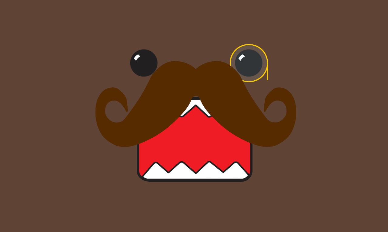 Domo Moustache Wallpaper 1280x768 Domo Moustache 1280x768