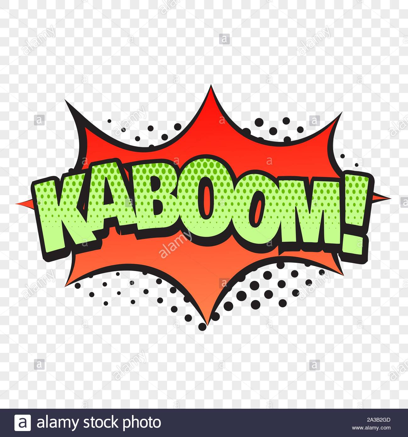 Kaboom comic style word isolated on transparent background Stock 1298x1390