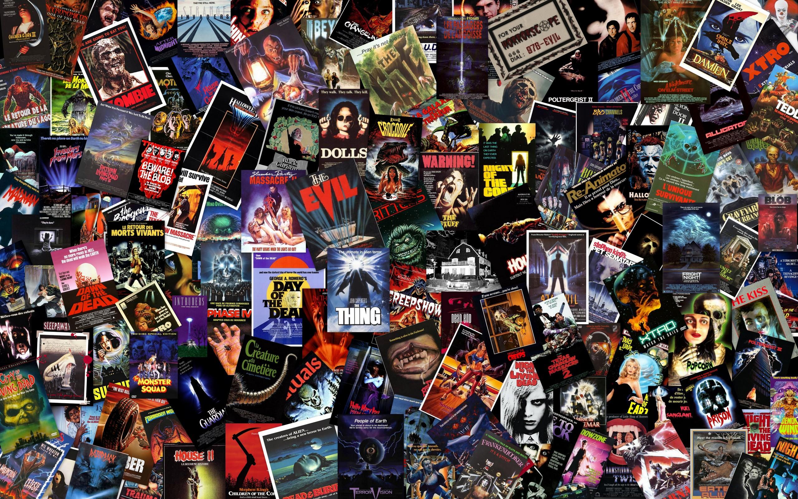 Massive B Horror Collage Wallpaper   Horror Movies Wallpaper 2560x1600