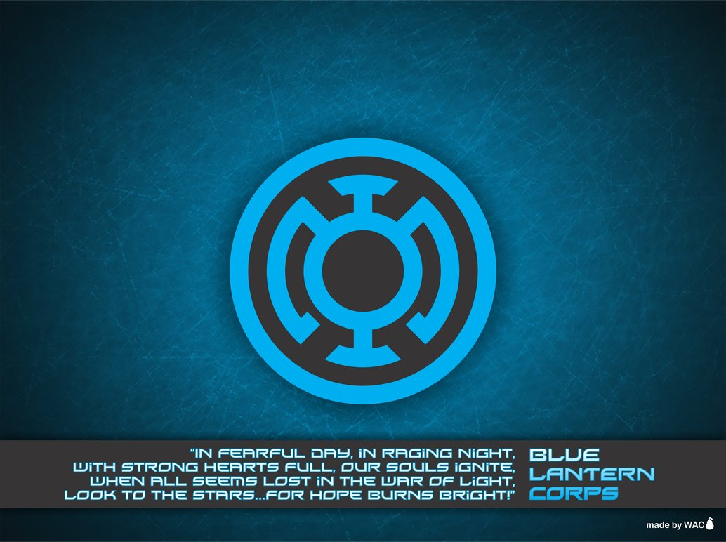Blue Lantern Corps Wallpaper by Willianac 1034x772