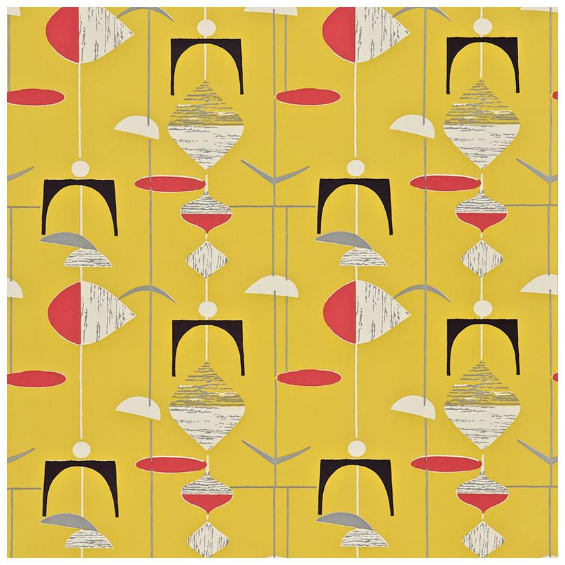Yellow Red wallpaper from the 50s collection priced per roll 820x820