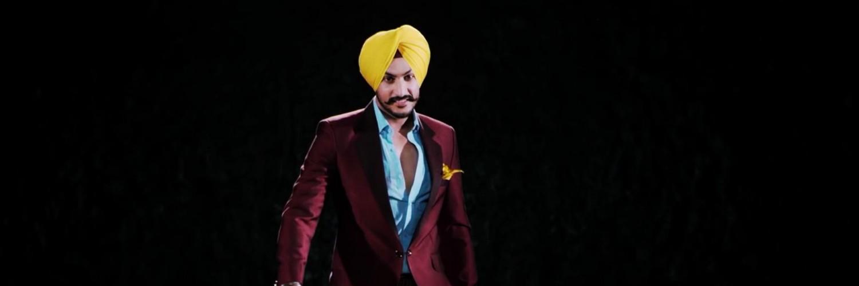 Rajvir Jawanda Yellow Turban Purple Suit Wallpaper 10342   Baltana 1500x500