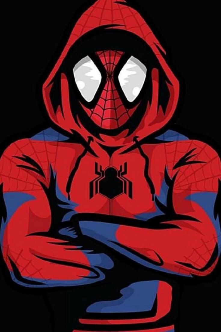 Los Mejores Wallpapers De Spiderman Miles Morales Para   Fondos De 735x1102