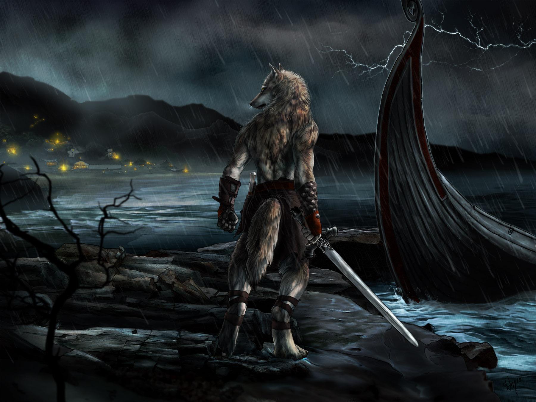 Dark Werewolf Wallpaper 1800x1350 Dark Werewolf 1800x1350